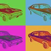 1969 Chevrolet Nova Yenko 427 Muscle Car Pop Art Poster