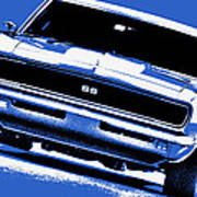1969 Chevy Camaro Ss - Blue Poster