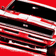 1969 Chevy Camaro Ss - Red Poster