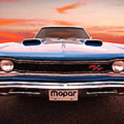 1969 Dodge Coronet R/t In B5 Blue Poster