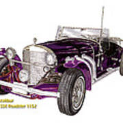1969 Excalibur Ss Roadster Poster