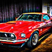 1969 Ford Boss 429 Mustang Poster