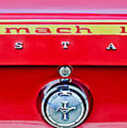 1969 Ford Mustang Mach 1 Rear Emblems Poster