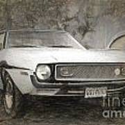 1969 Ford Mustang Poster