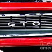 1969 Gto Grill Poster