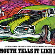 1969 Plymouth 'cuda 340 Poster