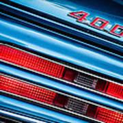 1969 Pontiac 400 Firebird Convertible Taillight Emblem -0029c Poster
