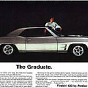 1969 Pontiac Firebird 400 - The Graduate Poster