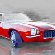 1970 Chevy Camaro Watercolor Poster