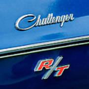 1970 Dodge Challenger Rt Convertible Emblem Poster by Jill Reger