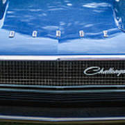 1970 Dodge Challenger Rt Convertible Grille Emblem -0545c Poster