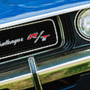 1970 Dodge Challenger Rt Convertible Grille Emblem Poster