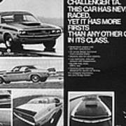 1970 Dodge Challenger T/a Poster