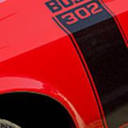 1970 Ford Mustang Sportsroof Boss 302 Emblem Poster