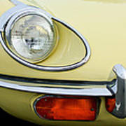 1970 Jaguar Xk Type-e Headlight Poster