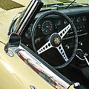 1970 Jaguar Xk Type-e Steering Wheel Poster