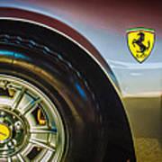1971 Ferrari Dino Gt Wheel Emblem -027c Poster