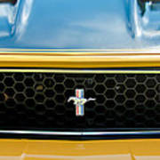 1971 Ford Mustang Mach 1 Front End Poster