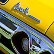 1972 Chevrolet Chevelle Taillight Emblem Poster