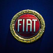 1972 Fiat Dino Spider Emblem Poster