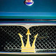 1972 Maserati Ghibli Grille - Hood Emblems Poster