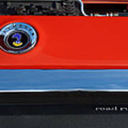 1972 Plymouth Road Runner Hood Emblem Poster by Jill Reger