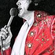 1972 Red Pinwheel Suit Poster