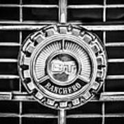 1973 Ford Ranchero Grille Emblem -0769bw Poster