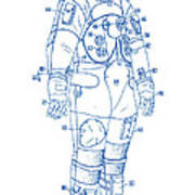1973 Nasa Astronaut Space Suit Patent Art 2 Poster