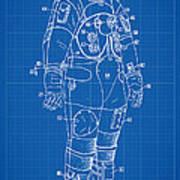 1973 Nasa Astronaut Space Suit Patent Art Poster