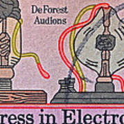 1973 Progress In Electronics Stamp Poster