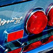 1974 Ferrari Dino Targa Gts Taillight Emblem Poster