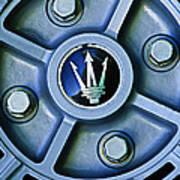 1974 Maserati Merak Wheel Emblem Poster