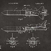 1975 Space Vehicle Patent - Gray Poster