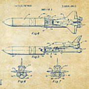 1975 Space Vehicle Patent - Vintage Poster
