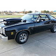 1976 Chevy Malibu Modified Muscle Car Poster