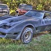 1977 Corvette Black Poster