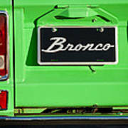 1977 Ford Bronco Taillight Poster