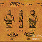 1979 Lego Minifigure Toy Patent Art 4 Poster