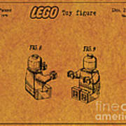 1979 Lego Minifigure Toy Patent Art 6 Poster