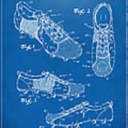 1980 Soccer Shoes Patent Artwork - Blueprint Poster