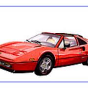 Ferrari 328 G T S 1986 Poster