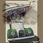 1987 Morgan Plus8 4.5 Litre Poster by Roger Beltz