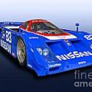 1988 Nissan Zx-gtp Race Car Poster