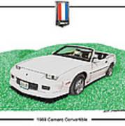 1989 Camaro Convertible Poster