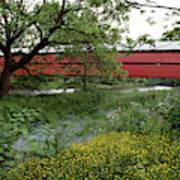 1990s Dreibelbis Station Covered Bridge Poster