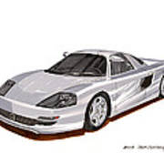 1991 Mercedes Benz C 112 Concept Poster