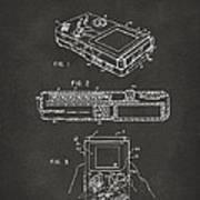 1993 Nintendo Game Boy Patent Artwork - Gray Poster