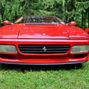 1993 Red Ferrari 512 Tr Poster