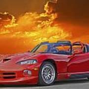 1995 Dodge Viper At Sunset Poster
